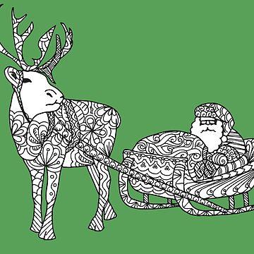 Santa's Reindeer by miskis22