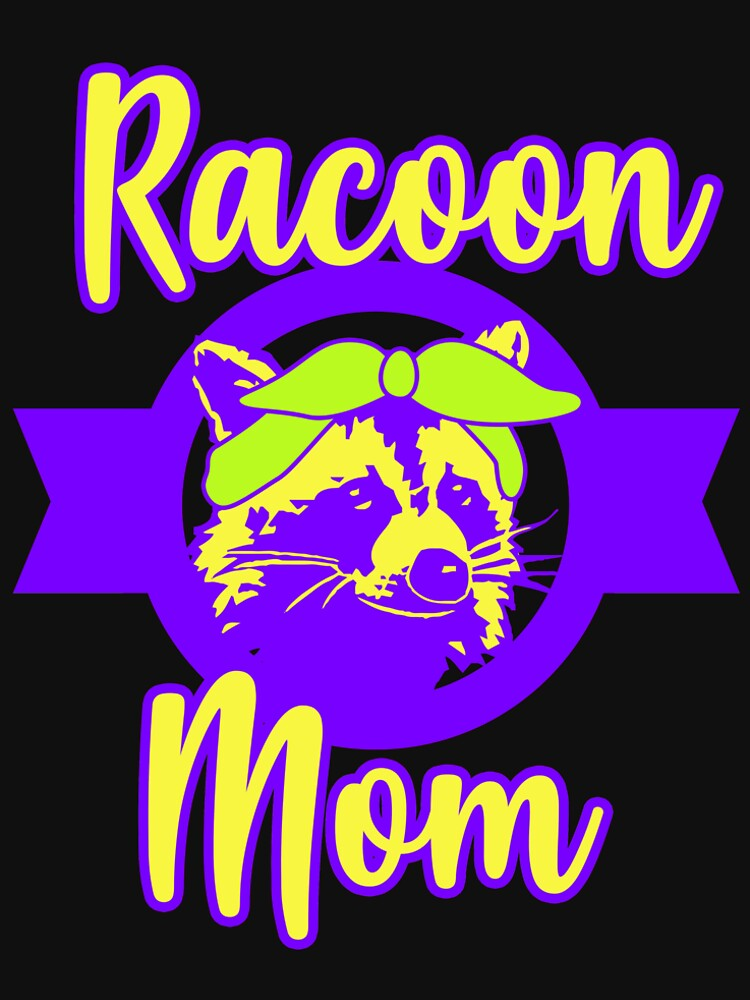 Racoon Mom Raccoon Women Animal Rescue Gift Retro by kh123856