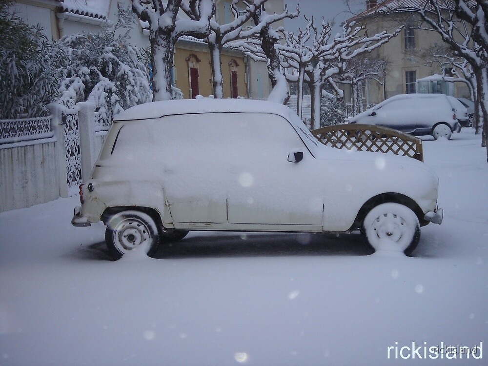 snow in camargue by rickisland