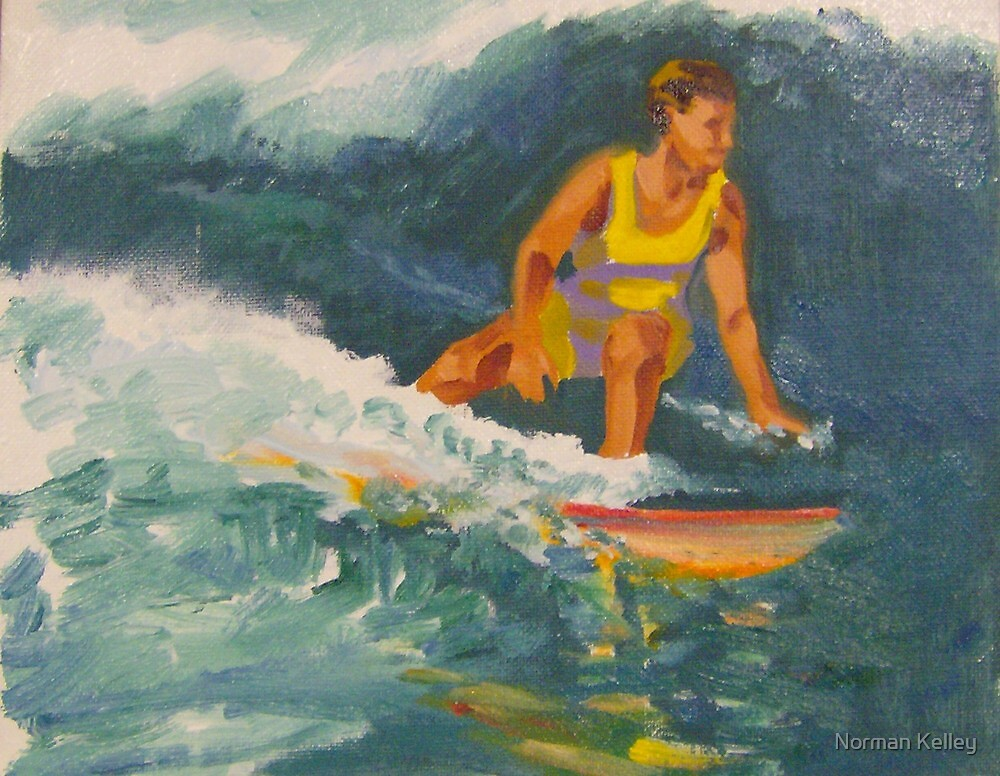 Surfing Hawaii Number 3 by Norman Kelley