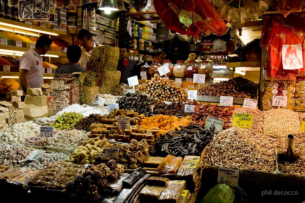 Turkish Candies by phil decocco