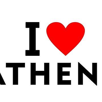 I love Athens city by tony4urban