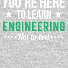Funny Engineering Major, College Student Gift by Curious  Graphix