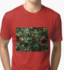 Christmas Baubles Tri-blend T-Shirt