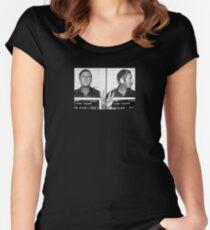 Steve McQueen Full Mugshot Women's Fitted Scoop T-Shirt