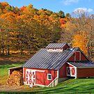 Vermont Sugar Shack Autumn by Edward Fielding