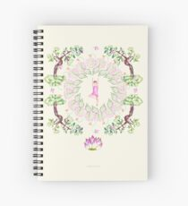 yoga garden VI Spiral Notebook