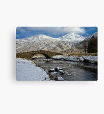 Argyll Winter Snow Scene Canvas Print