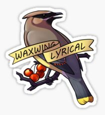 Waxwing Lyrical Sticker