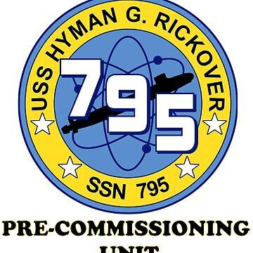 USS Hyman G. Rockover (PCU-795) Crest by Spacestuffplus