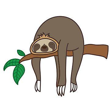 Sweet cute sloth sleepyhead gift by Donsanoj