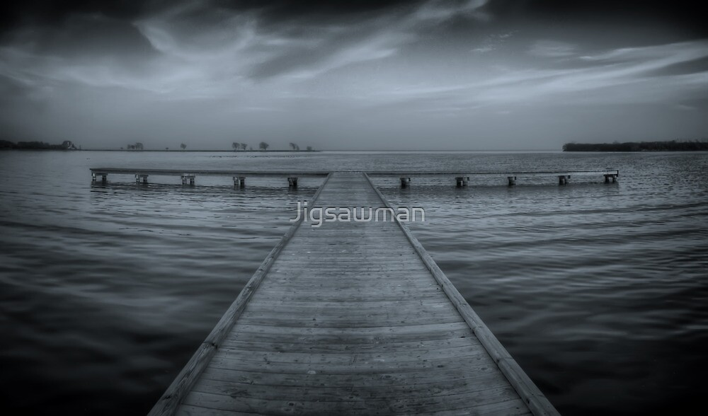 Pier at Millers Bay ~ HDR in Cyanotype by Jigsawman