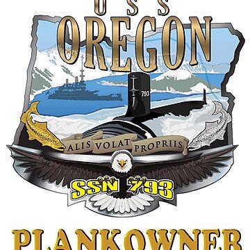 USS Oregon SSN-792 PCU Crest for Dark Colors by Spacestuffplus