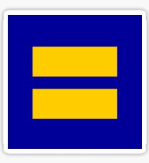 Human Rights Campaign Logo-Equality Sticker Sticker