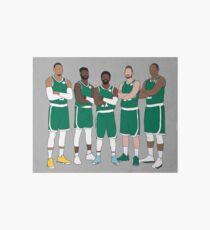 The Celtics' Big 5 Art Board