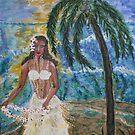 Hula Lady Hawaii acrylic on canvas 16x20 by eoconnor