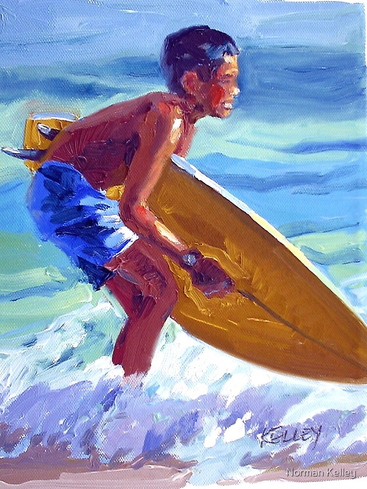 Winter Surf by Norman Kelley