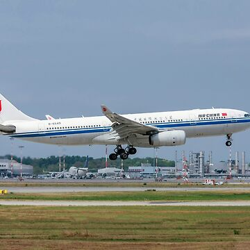 Air China Airbus A330-200, passenger jet landing. Photographed at Malpensa airport, Milan, Italy by PhotoStock-Isra