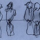 Birds on Wire 03 by ReBecca Gozion