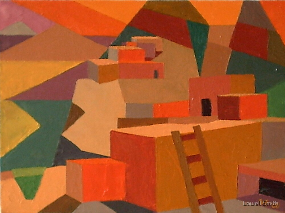 Adobe #26 oil on canvas by Lowell Smith