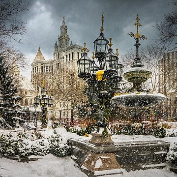 Snowstorm At City Hall by ChrisLord