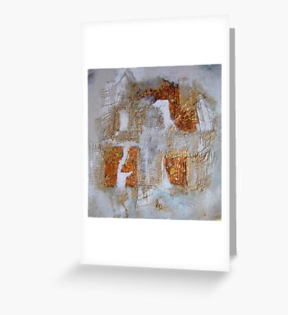 Autumnal shades and gold against white  Greeting Card