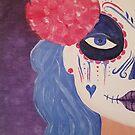 Sugar Skull Face Painted Catrina  by shandab3ar