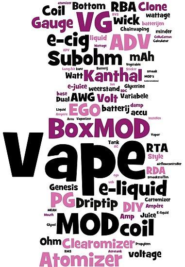 Vape WordCloud Lang von 2vape