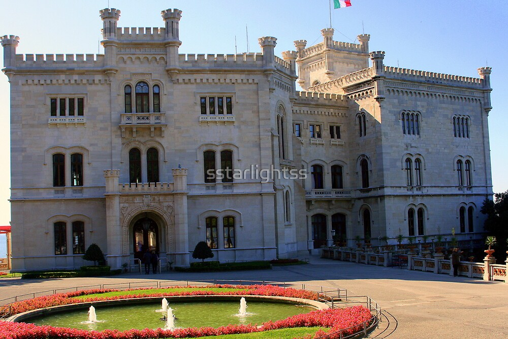 The Castle Miramare - main entrance by sstarlightss