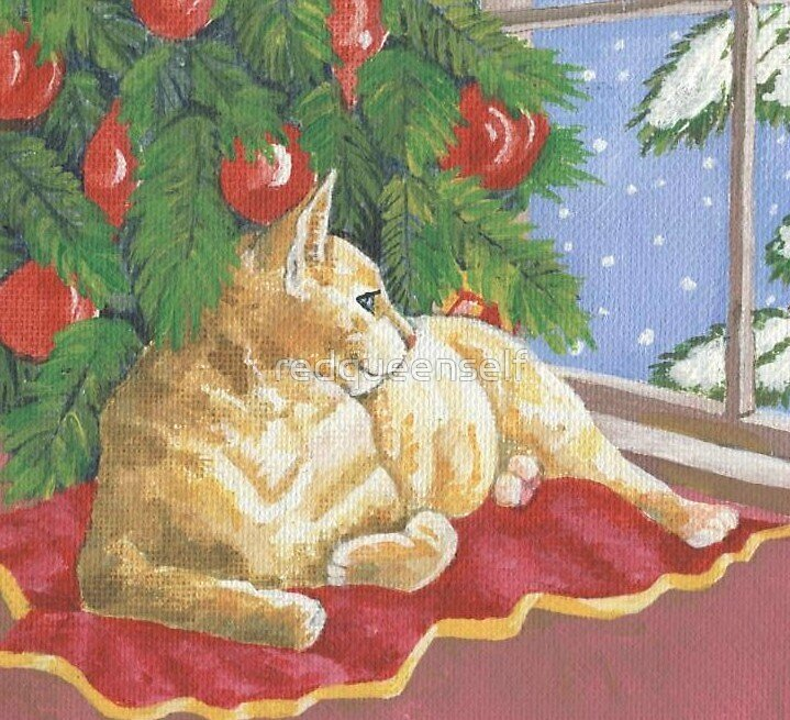 Kitty Christmas by redqueenself