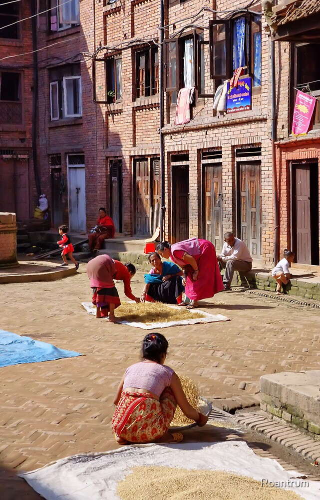 In the Back Streets of Bhaktapur by Roantrum