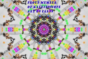 Proud member of kaleidoscope art on cards by whackycat