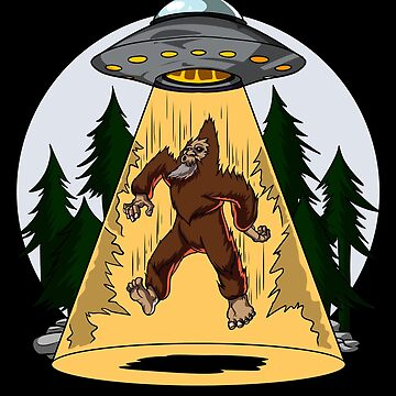 Bigfoot Alien Abduction Funny UFO by underheaven