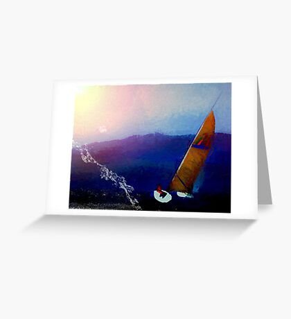 Boating Lessons Greeting Card