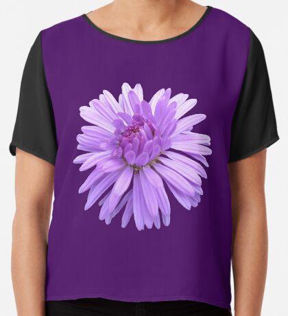 zauberhafte violette Blume, Blüte, Natur, lila,  Chiffontop für Frauen