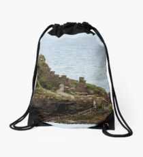 TINTAGEL CASTLE - RUINS - CORNWALL Drawstring Bag