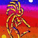 Kokopelli's Rainbow Dance by WayneYoungArts