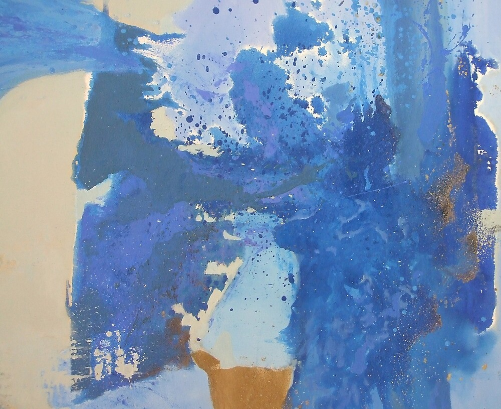 Blues Abstract by Elisabeth Le Vierge