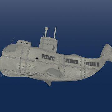 Whale submarine by yanatibear