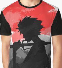 Samurai with sunset Graphic T-Shirt