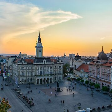 summer sunset in novi sad by studenna