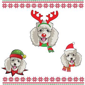 dogsxmass poodle by 8fiveone4