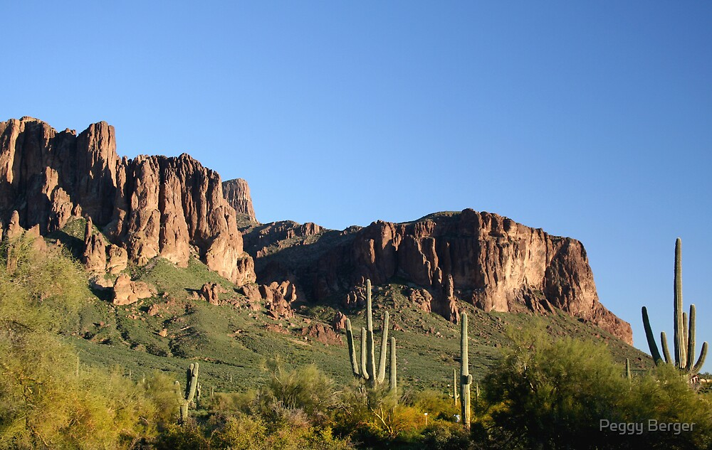 Superstition Mountain  by Peggy Berger