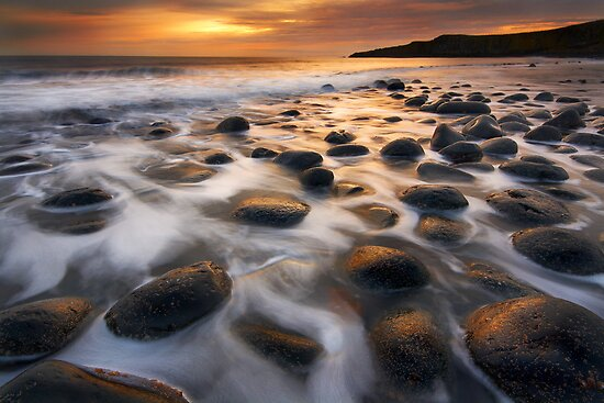 Dark Sky Sunrise, Northumberland by Robin Whalley