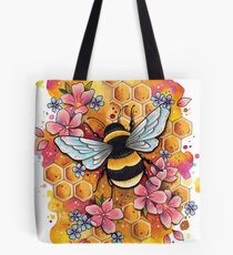 Bumble Bee Design by Lorna Laine Tote Bag
