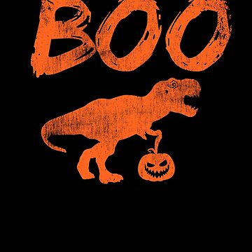 Boo Dinosaur Pumpkin Halloween Scary Trick Or Treat by kieranight