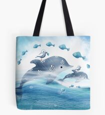 Dolphin Love Tote Bag