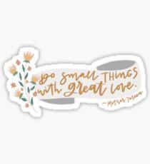 Mother Teresa Quote Sticker