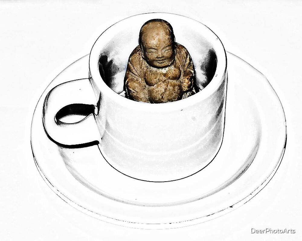 Buddha in a Teacup by DeerPhotoArts