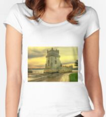 Torre de Belém.... Women's Fitted Scoop T-Shirt